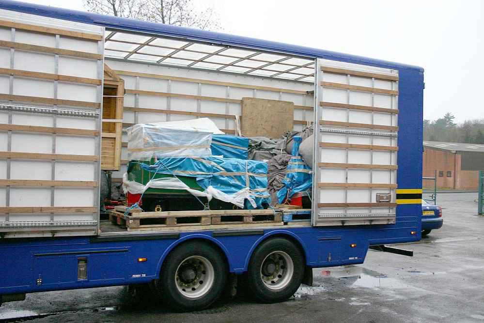 Light Railway arrives in a lorry