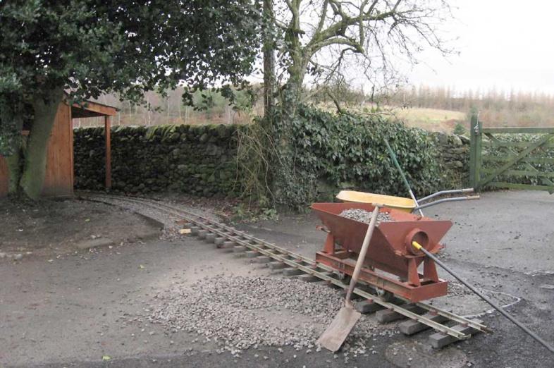 7 1/4 inch gauge railway progress in Dumfries