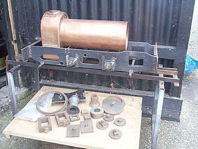 Part-built 5 inch gauge Hunslet