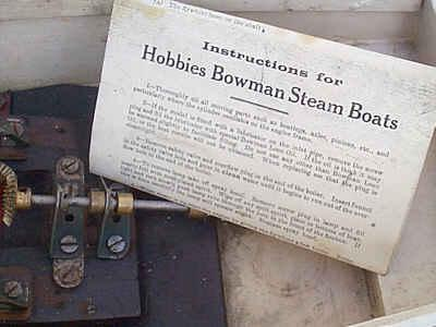 Steam boat with Bowman plant