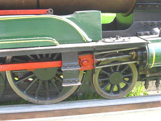 Part-built 5 inch Pacific with bogie tender