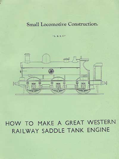 How to make a Great Western Railway saddle tank engine