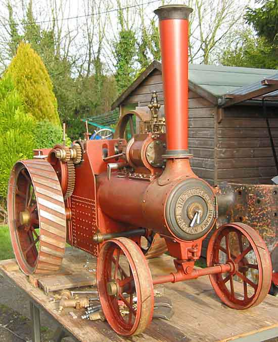 Part-built 4 1/2 inch scale Burrell traction engine