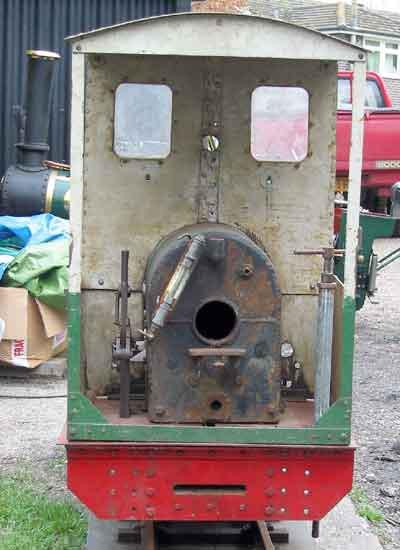 7 1/4 inch gauge dismantled 0-4-0 saddle tank