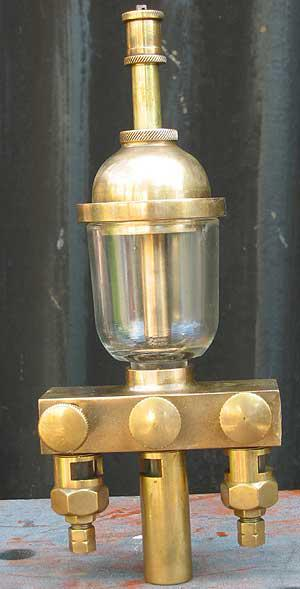 Large three branch drip-feed lubricator
