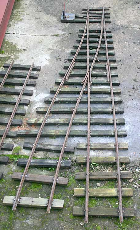 7 1/4 inch gauge track and point