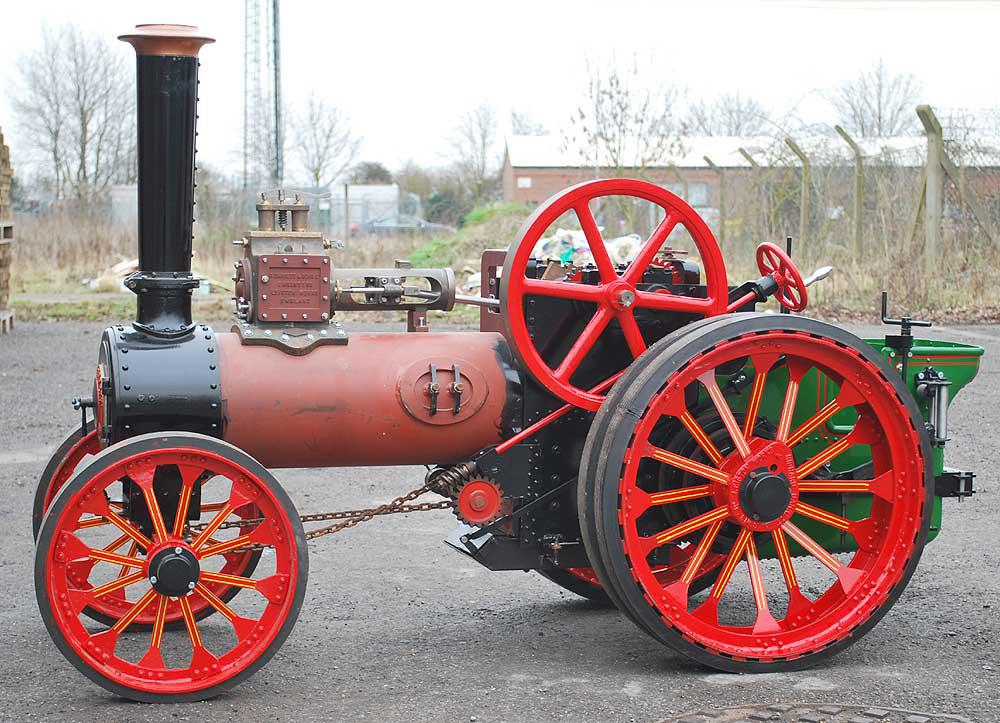 part-built 4 inch scale Garrett traction engine