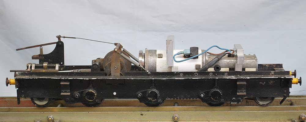 3 1/2 inch gauge battery-electric friction drive locomotive