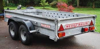 Wessex 4 wheel 1500Kg trailer with winch