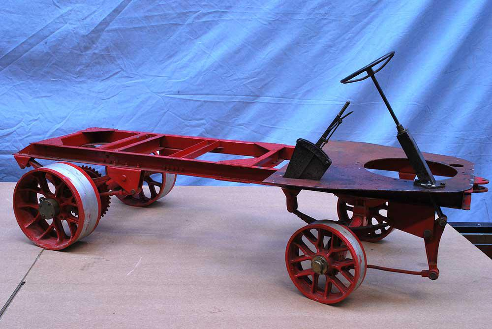 Part-built 2 inch scale Clayton wagon