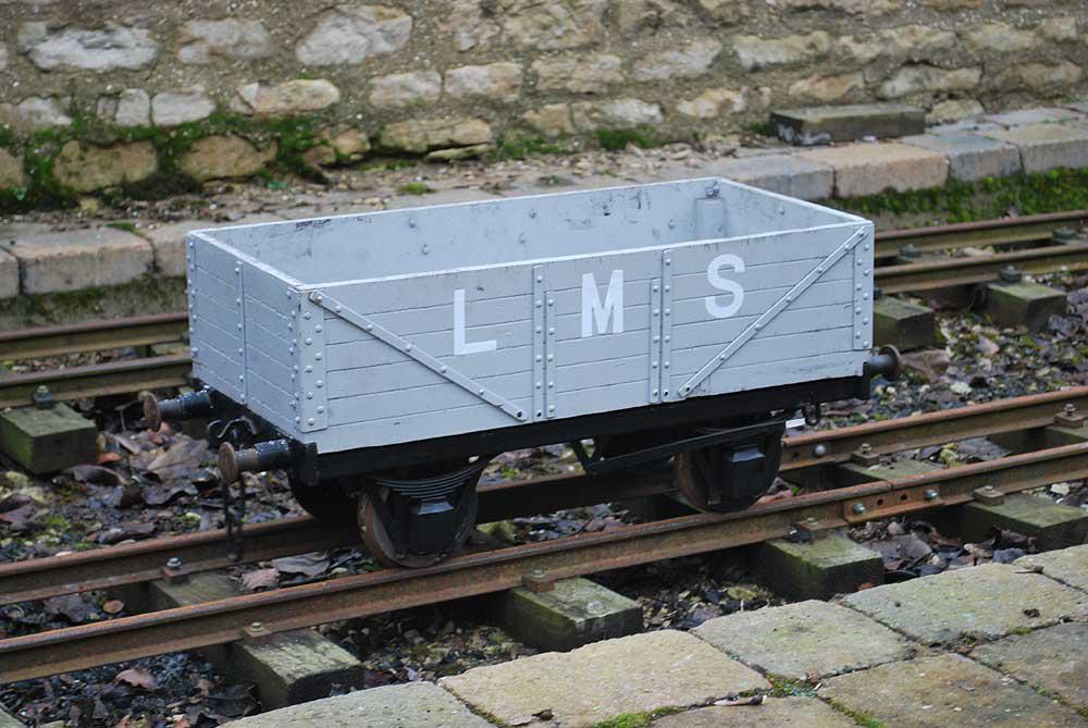7 1/4 inch gauge open wagon(Grey LMS)