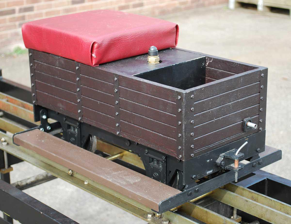 5 inch gauge Ride on Railways four wheel braked driving truck