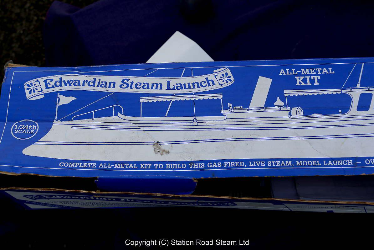 1/24th scale kit-built steam launch
