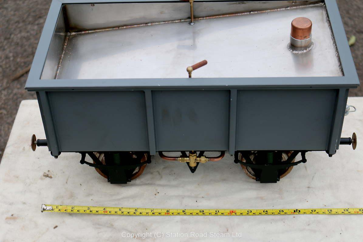 5 inch gauge mineral wagon with stainless tank