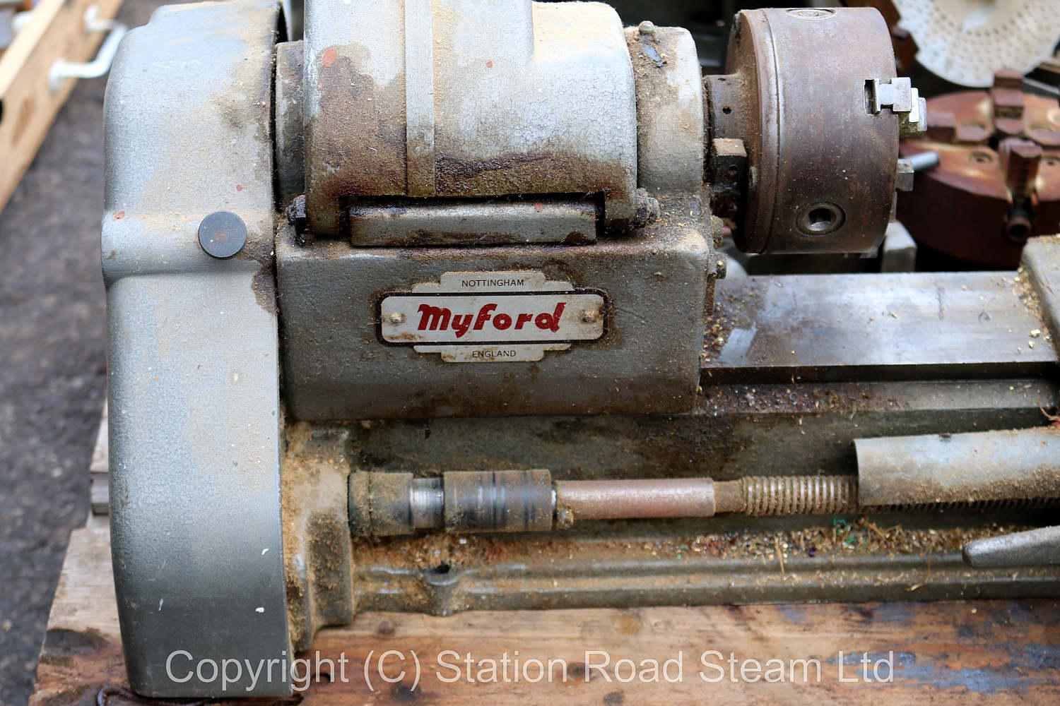 Myford Speed 10 lathe with accessories