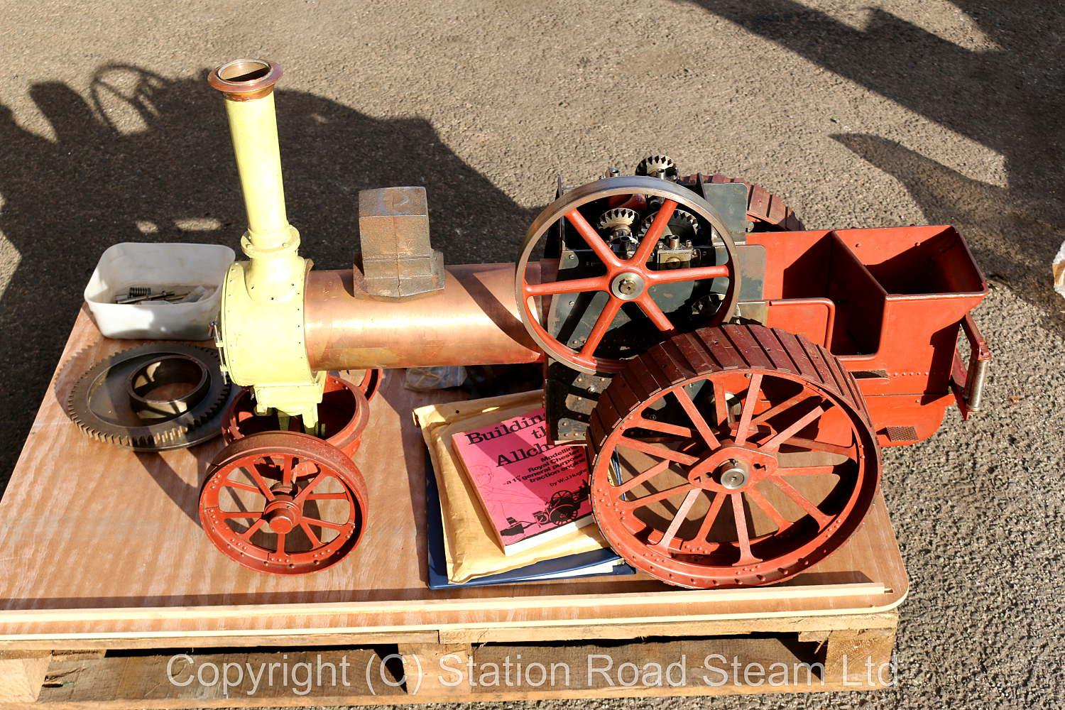 Part-built 2 1/4 inch scale Allchin agricultural engine