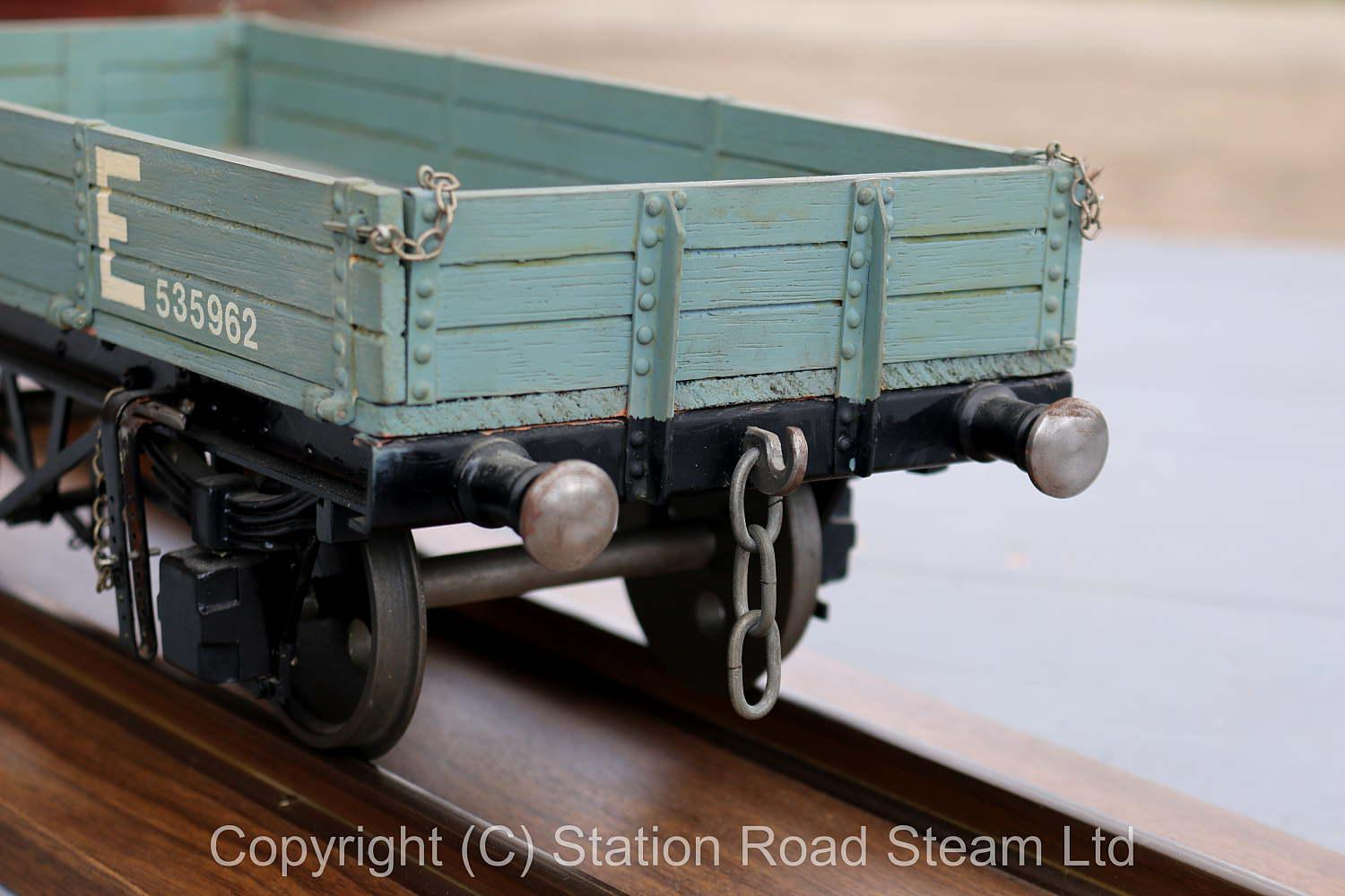 3 1/2 inch gauge North Eastern three plank wagon