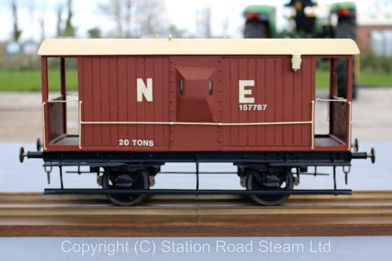 3 1/2 inch gauge North Eastern brake van