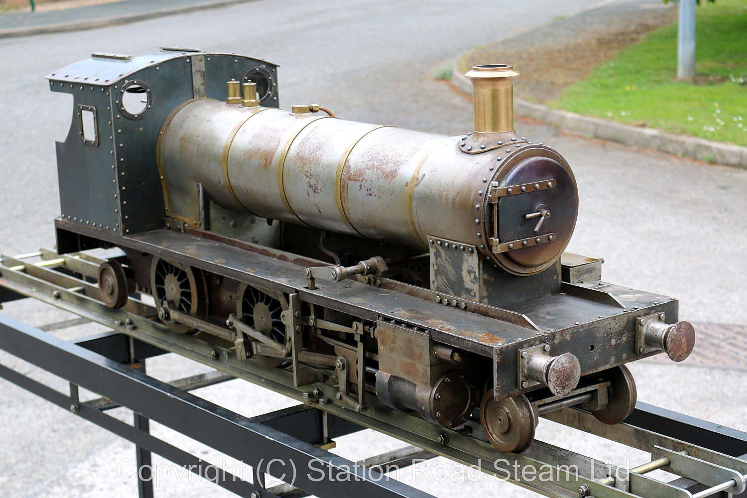 7 1/4 inch gauge 2-6-2 tender locomotive for completion