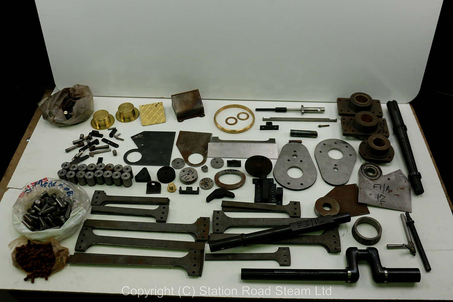 Wheels, boiler kit and professionally machined parts for 4