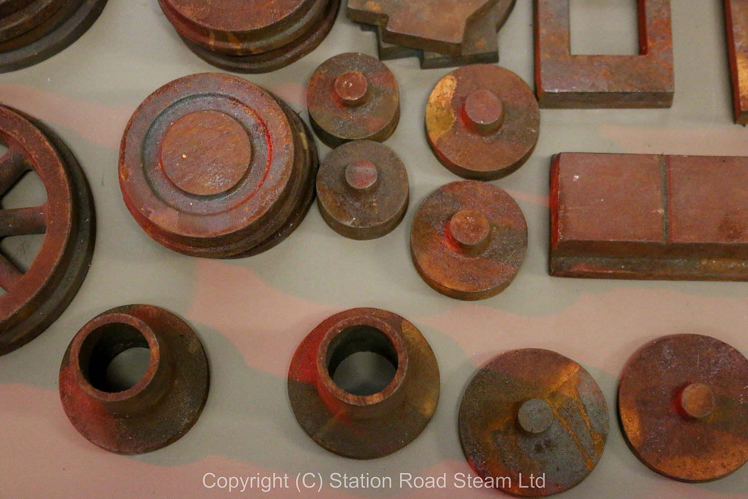 Assorted 7 1/4 inch gauge castings