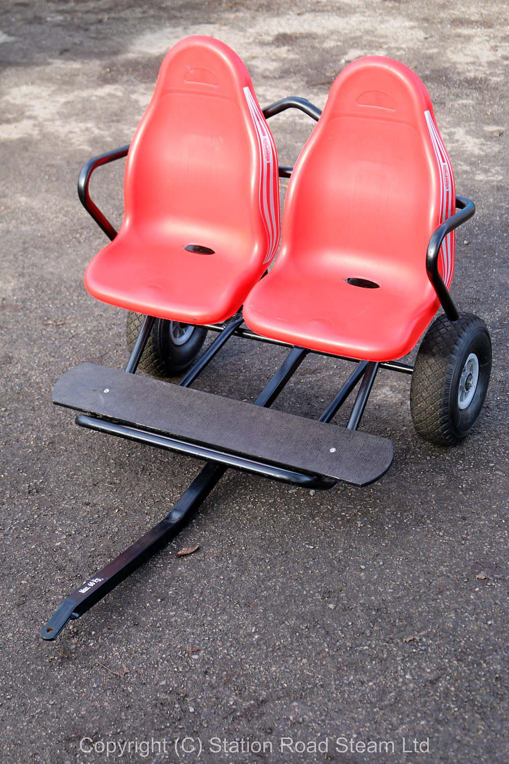 Two seat passenger trolley for 4 inch scale traction engine