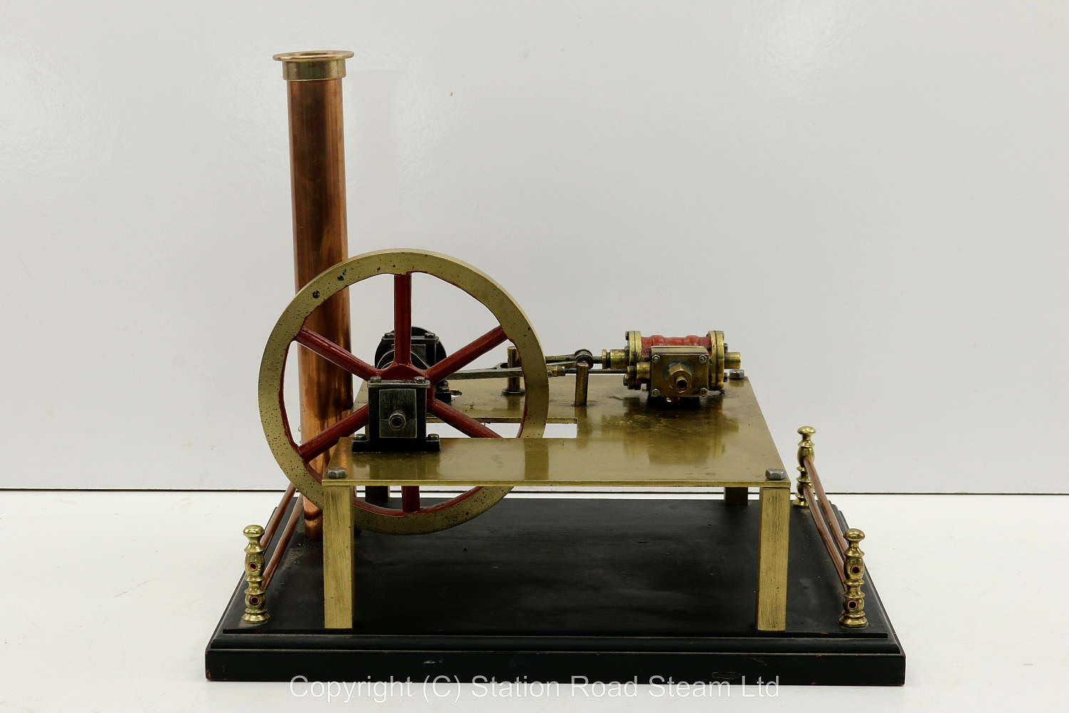 Vintage horizontal engine on later base