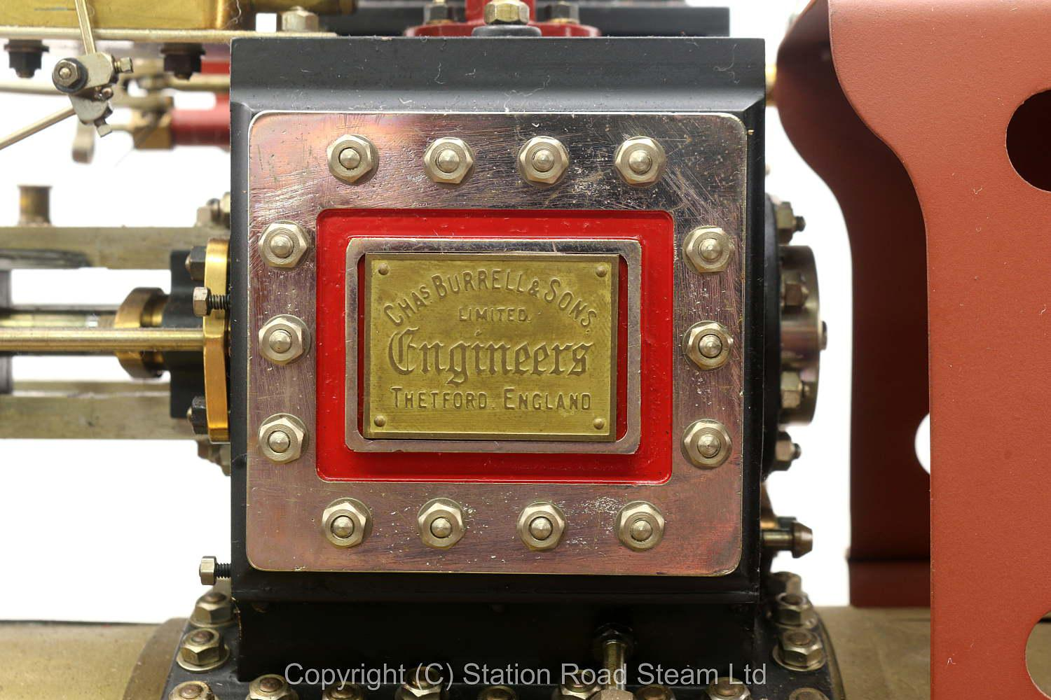2 inch scale Burrell DCC Showmans Road Locomotive