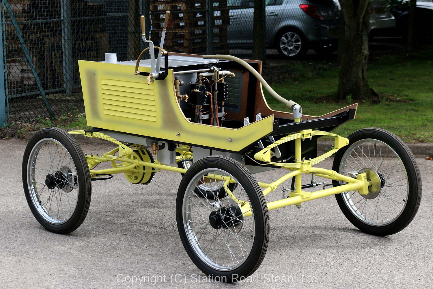 Part-built Likamobile steam car