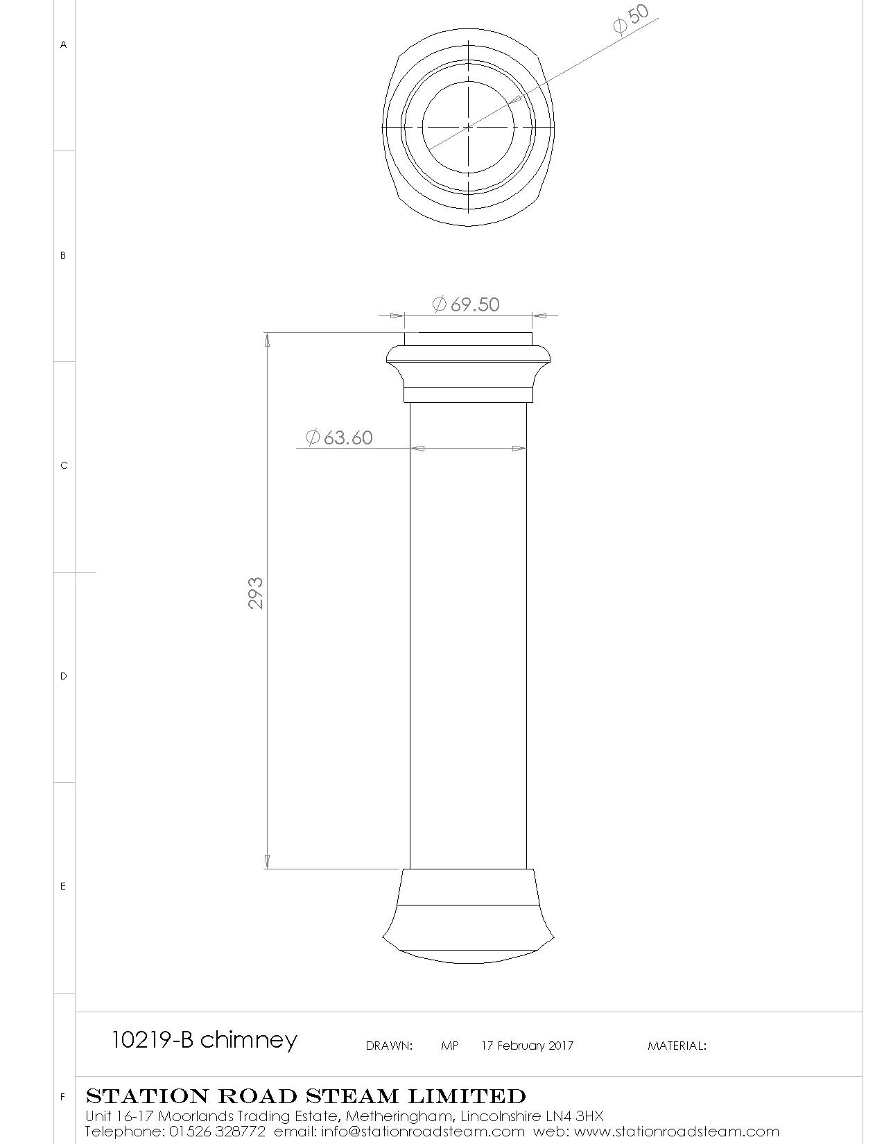 10219-A 4 inch scale parallel chimney
