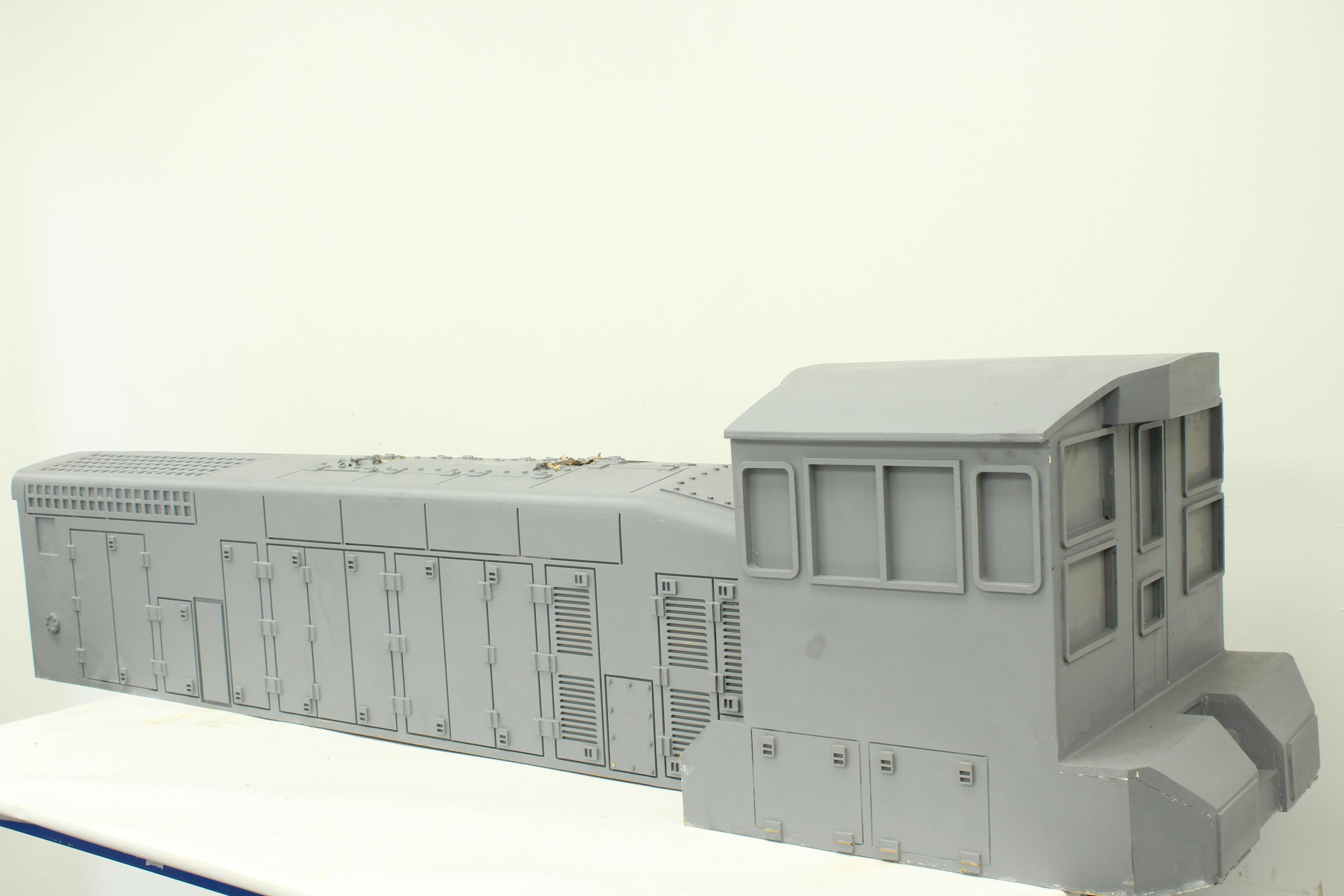 Part-built 7 1/4 inch gauge EMD SW1500 battery-electric
